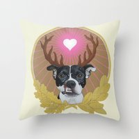 Jaggermeister - Pitbull Throw Pillow