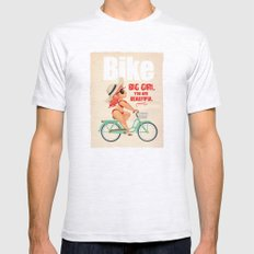 BIKE Mens Fitted Tee Ash Grey SMALL