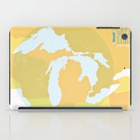 The GREAT LAKES of NORTH AMERICA iPad Case
