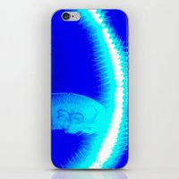 glowing jellyfishes iPhone & iPod Skin