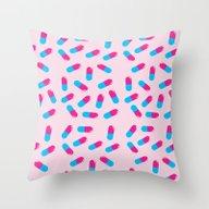 TRILL PILL Throw Pillow