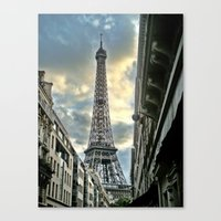 Canvas Print featuring Eiffel Tower by Christine Workman