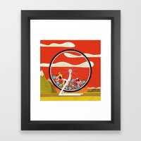 Road Cycling Race Hamste… Framed Art Print