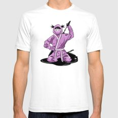 Lady Ninja Mens Fitted Tee White SMALL