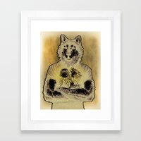 Four Wolf Moon Framed Art Print