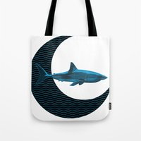 Shark Side Of The Moon Tote Bag