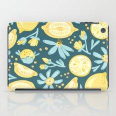 Lemon Pattern Green iPad Case