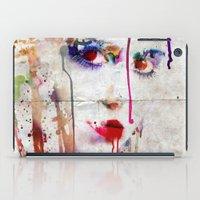 Drip face iPad Case