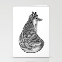 Fox- Feathered. Stationery Cards