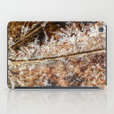 frost and a leaf iPad Case
