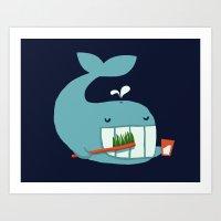 Brush Your Teeth Art Print