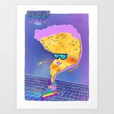 Disco Pizza  Art Print