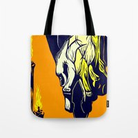 Hand that Takes Tote Bag