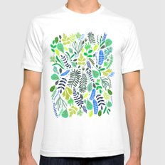 Green Garden Mens Fitted Tee White SMALL