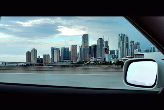 Miami Skyline Art Print
