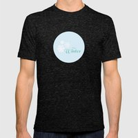 Hey Winter Mens Fitted Tee Tri-Black SMALL