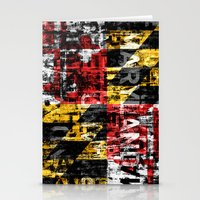 Maryland Flag Print Stationery Cards