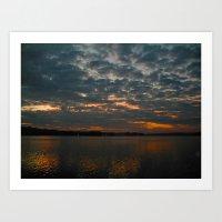 Stormy Sunrise Art Print