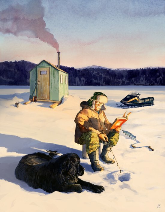 Hard Water Paperback Art Print