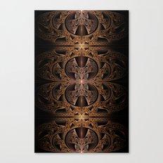 Steampunk Engine Abstract Fractal Art Canvas Print