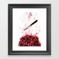 Healthy Bloody Eating Framed Art Print