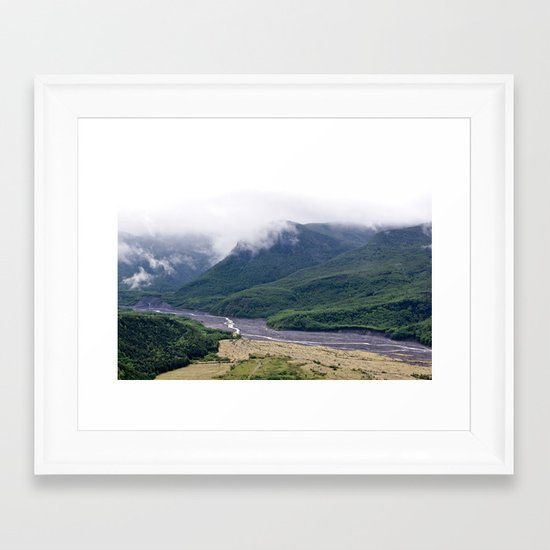 Mount St. Helen's River Framed Art Print