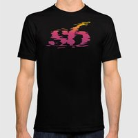 S6 Reflection Mens Fitted Tee Black SMALL