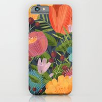 Flowers on Blue iPhone 6 Slim Case