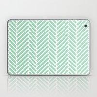 Herringbone Mint Zoom Laptop & iPad Skin