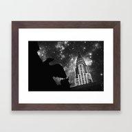 Starry Night In New York Framed Art Print