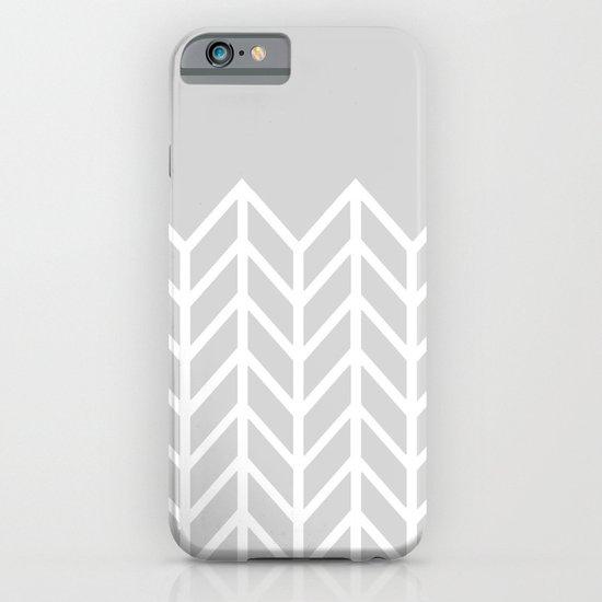 LACE CHEVRON (GRAY) iPhone & iPod Case