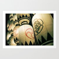 Japanese Festival Laterns in Gion, Kyoto Art Print