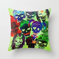 Suicide Squad Skulls Throw Pillow