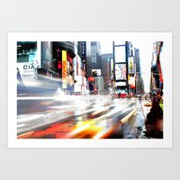 Time Square a go go Art Print