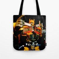 Golden Optimus Tote Bag