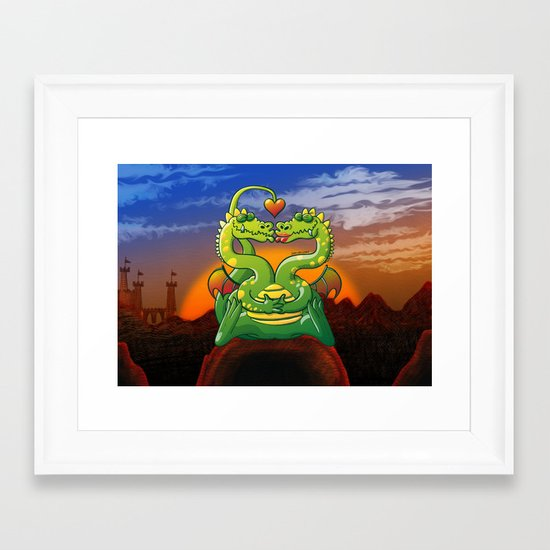 Dragons Madly in Love Framed Art Print