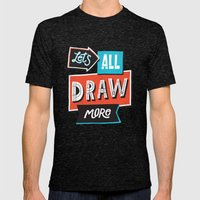 Draw, More Mens Fitted Tee Tri-Black SMALL