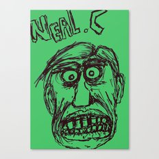 Neal cassady in green Canvas Print