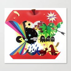 the world inside the apple  Canvas Print