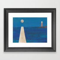 Moon Light House Framed Art Print