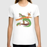 When Dinosaurs Ruled The… Womens Fitted Tee White SMALL