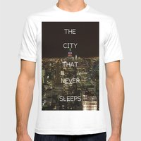 New York, New York. Mens Fitted Tee White SMALL