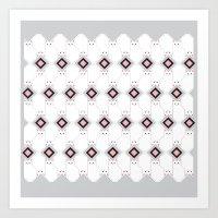 Cat Box pattern Art Print