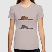Monoprinting Le Petit Pr… Womens Fitted Tee Cinder SMALL
