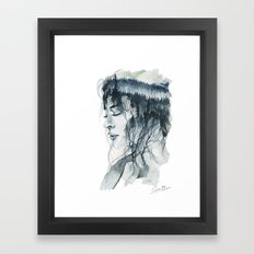 Into thick woods alone Framed Art Print
