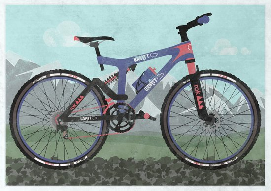 Mountain Bike Art Print
