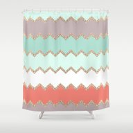 AVALON CORAL Shower Curtain