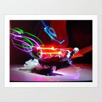 Asajj Ventress' Lightsab… Art Print