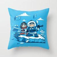 Hoth Climbers Throw Pillow