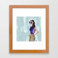 Blue Chic  Framed Art Print